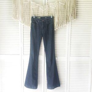 AG Dark Wash Janis High Rise Flare Jeans 26